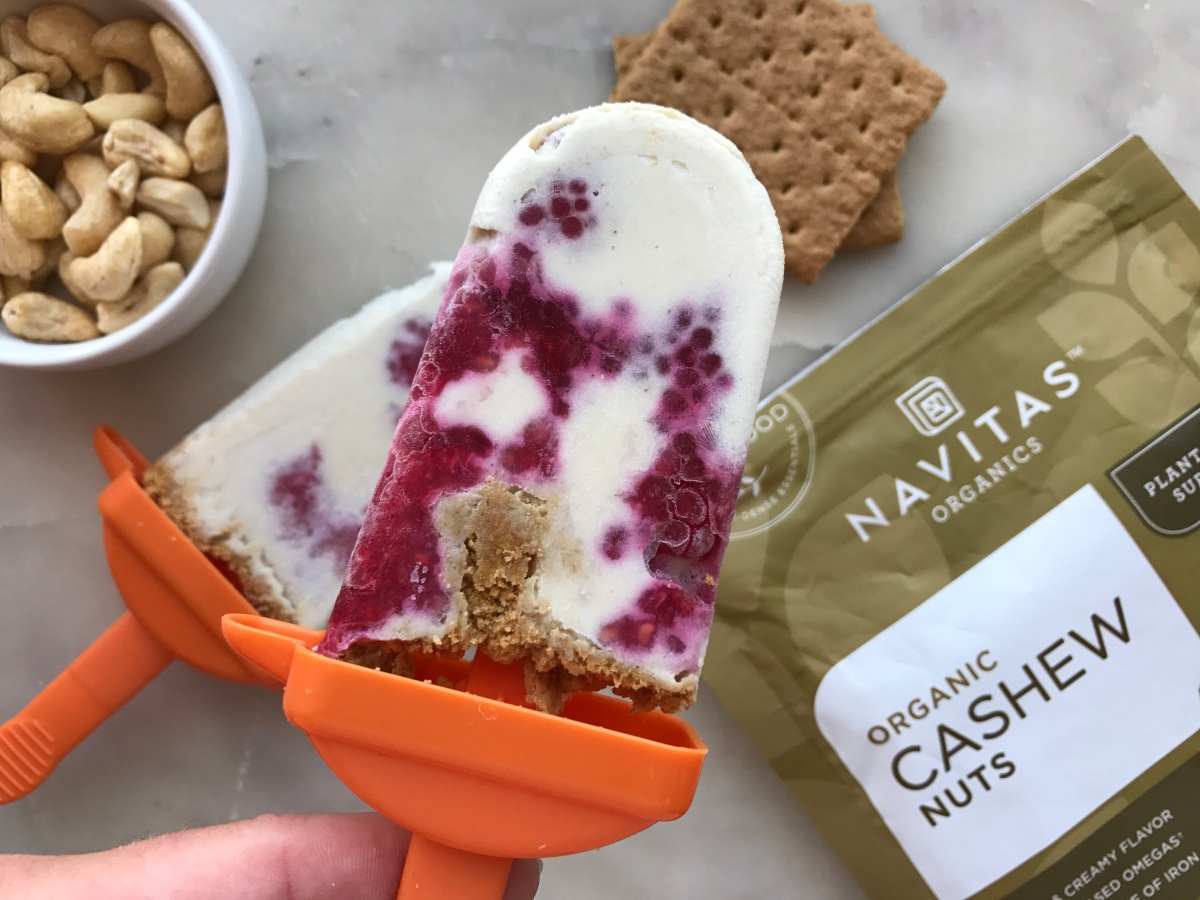 Dairy Free Raspberry Cheesecake Popsicle